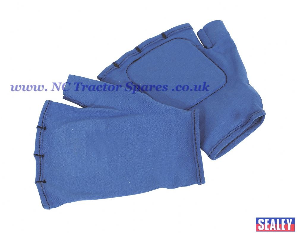 Safety Gloves Fingerless Vibration Absorbing - Large